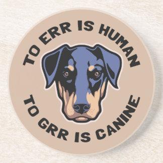 A Grr es canino Posavasos Para Bebidas