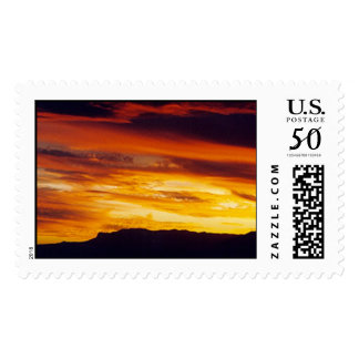 A Guadalupe Mountains Sunset Postage