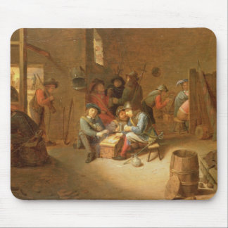 A Guardroom Interior with Soldiers playing Cards ( Mouse Pad