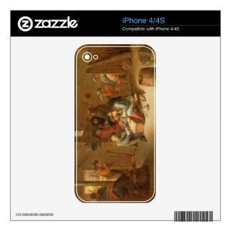 A Guardroom Interior with Soldiers playing Cards ( Skin For The iPhone 4S