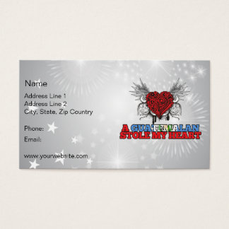 A Guatemalan Stole my Heart Business Card