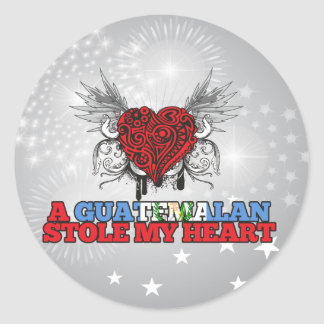 A Guatemalan Stole my Heart Classic Round Sticker