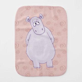 A Guilty Little Hippo Burp Cloth