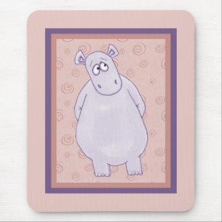 A Guilty Little Hippo Mousepad