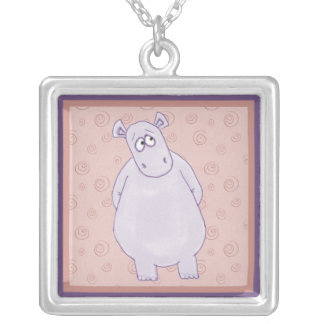 A Guilty Little Hippo Necklace