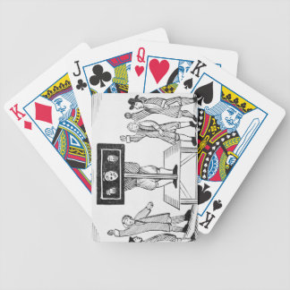 A Guilty Man in the Village Pillory, copy of a 16t Bicycle Playing Cards