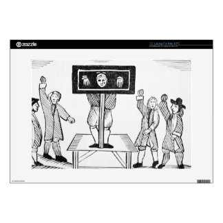 A Guilty Man in the Village Pillory, copy of a 16t Decal For Laptop