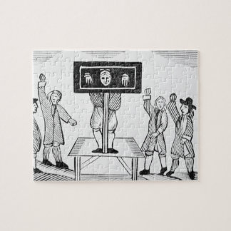 A Guilty Man in the Village Pillory, copy of a 16t Jigsaw Puzzle