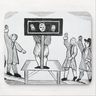 A Guilty Man in the Village Pillory, copy of a 16t Mousepad