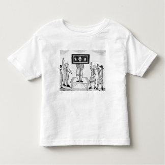 A Guilty Man in the Village Pillory, copy of a 16t Toddler T-shirt