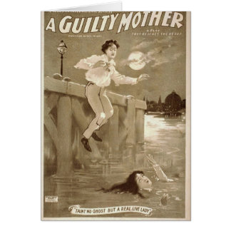 A Guilty Mother Greeting Card