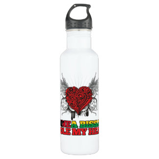 A Guinea-Bissauan Stole my Heart Stainless Steel Water Bottle