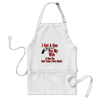 A Gun For My Wife Adult Apron