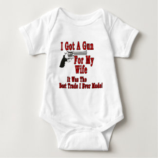 A Gun For My Wife Baby Bodysuit