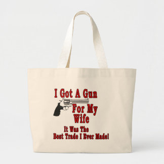 A Gun For My Wife Canvas Bags