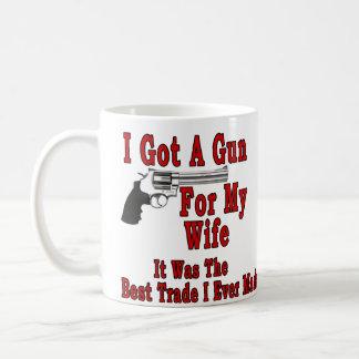 A Gun For My Wife Classic White Coffee Mug