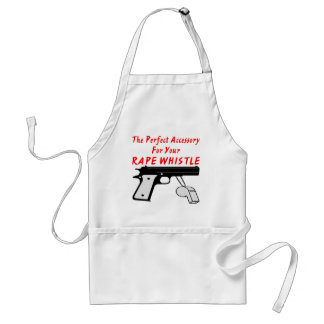 A Gun The Perfect Accessory To Your Rape Whistle Adult Apron