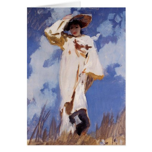 A Gust of Wind by John Singer Sargent Greeting Card