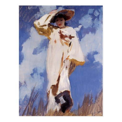 A Gust of Wind by John Singer Sargent Postcard