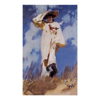 A Gust of Wind by John Singer Sargent Poster