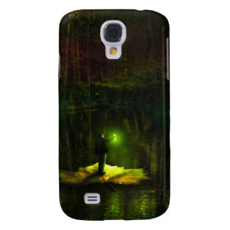 A guy riding on a leaf in the swamp samsung galaxy s4 cover