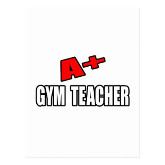 A+ Gym Teacher Postcard