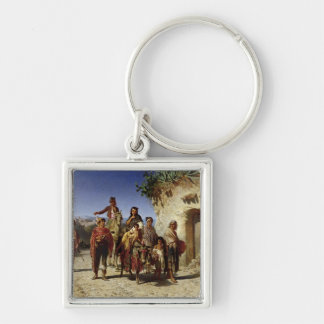 A Gypsy Family on the Road, c.1861 Keychain