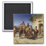A Gypsy Family on the Road, c.1861 2 Inch Square Magnet