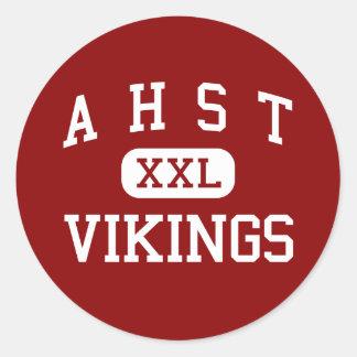 A H S T - Vikings - Community - Avoca Iowa Round Stickers