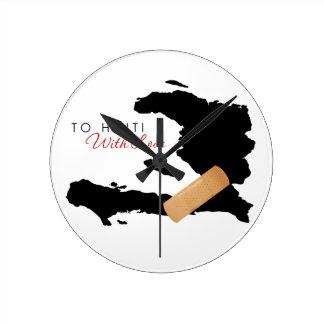 A Haití con amor Relojes De Pared