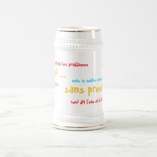 A half…, without pressure!! beer stein