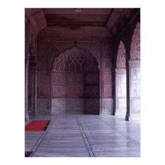 A hall inside the Jama Masjid Letterhead Design