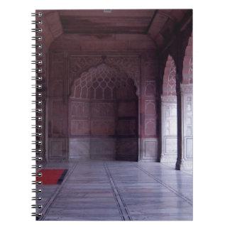 A hall inside the Jama Masjid Spiral Notebook
