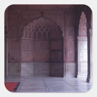 A hall inside the Jama Masjid Square Sticker