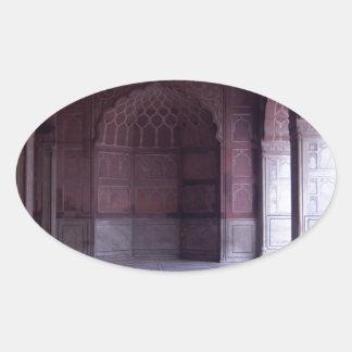 A hall inside the Jama Masjid Sticker