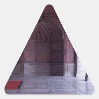 A hall inside the Jama Masjid Triangle Sticker