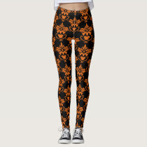 A Hallowe'en Damask Leggings