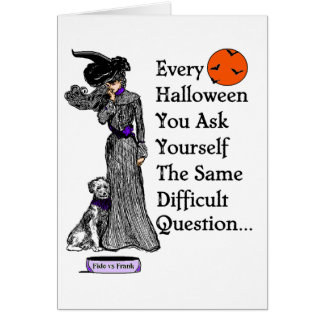 A Halloween Decision Card