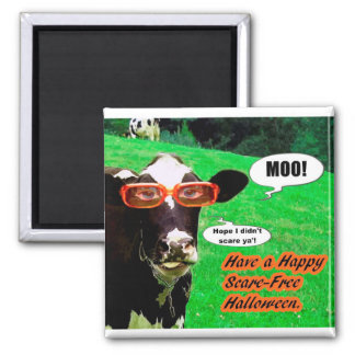 A Halloween Greeting 2 Inch Square Magnet