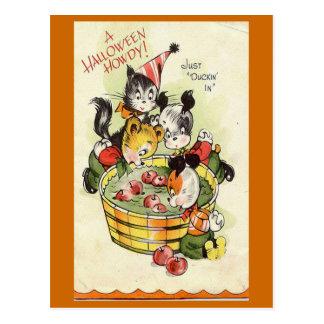 """A Halloween Howdy"" Vintage Halloween Card Postcard"