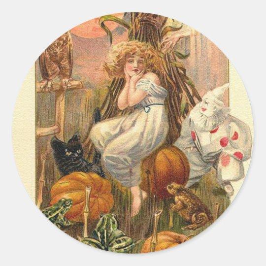 A Halloween Nightmare Classic Round Sticker