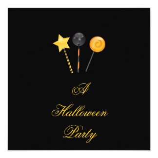 """""""A Halloween Party"""" - Halloween Lollypops Card"""