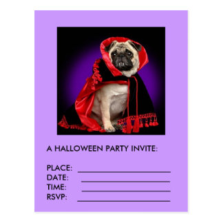 A HALLOWEEN PARTY INVITE POSTCARD