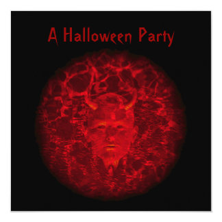 """A Halloween Party"" - Phantom Devil (Red) Card"