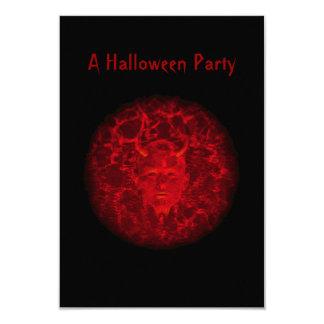 """A Halloween Party"" - Phantom Devil (Red) 3.5x5 Paper Invitation Card"