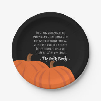 A Halloween Poem Paper Plate