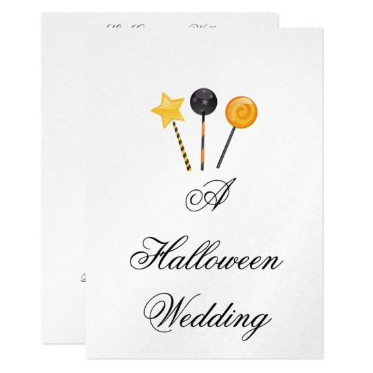"""A Halloween Wedding"" - (Halloween Candy) Card"