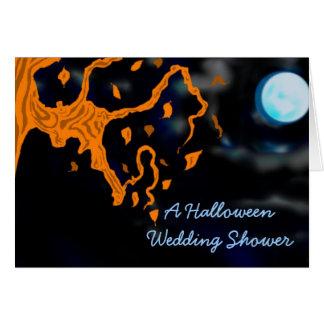 A Halloween Wedding Shower Cards