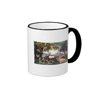 A Halt by the Wayside Ringer Coffee Mug