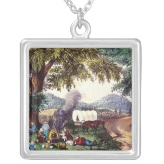 A Halt by the Wayside Silver Plated Necklace